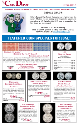 Rare Coin Express - June 2015