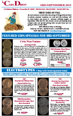Rare Coin Express - Mid-September 2015