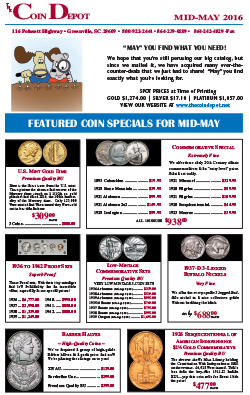 Rare Coin Express - Mid-May 2016