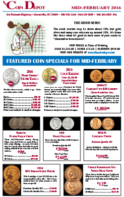 Rare Coin Express - Mid-February 2016