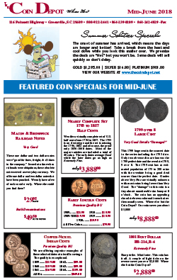 Rare Coin Express - Mid-June 2018
