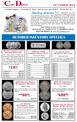 Rare Coin Express - October 2014