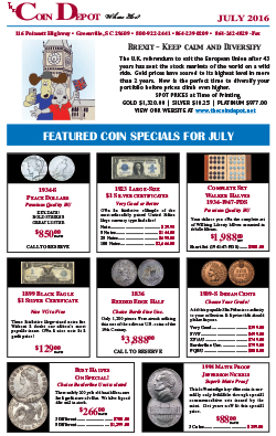 Rare Coin Express - July 2016