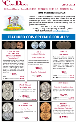 Rare Coin Express - July 2015