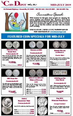 Rare Coin Express - Mid-July 2019