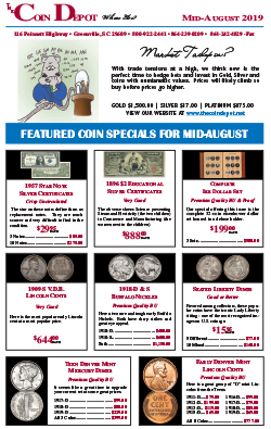 Rare Coin Express - Mid-August 2019