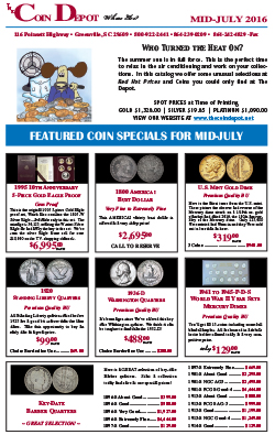 Rare Coin Express - Mid-July 2016