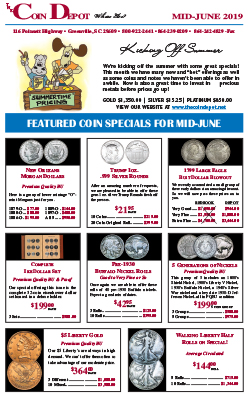 Rare Coin Express - Mid-June 2019