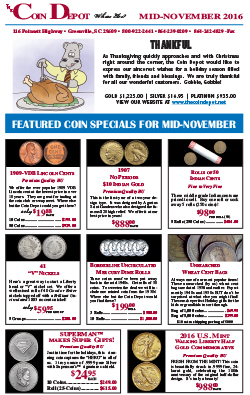 Rare Coin Express - Mid-November 2016