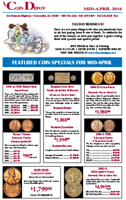 Rare Coin Express - Mid-April 2016