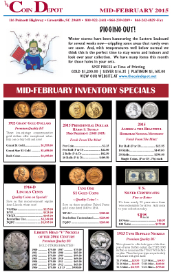 Rare Coin Express - Mid-February 2015