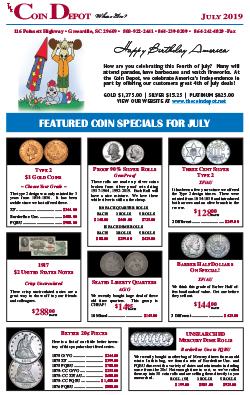Rare Coin Express - July 2019