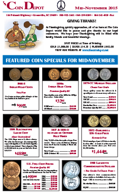 Rare Coin Express - Mid-November 2015