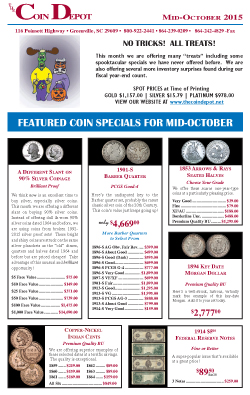 Rare Coin Express - Mid-October 2015