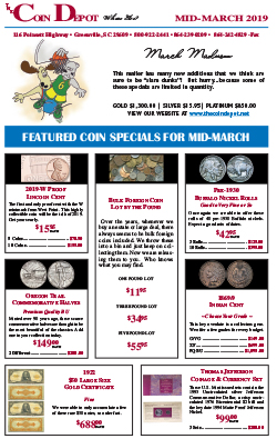 Rare Coin Express - Mid-March 2019