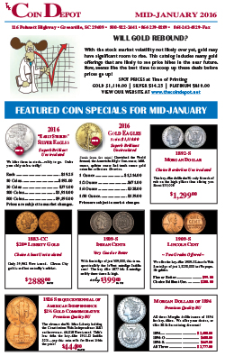 Rare Coin Express - Mid-January 2016