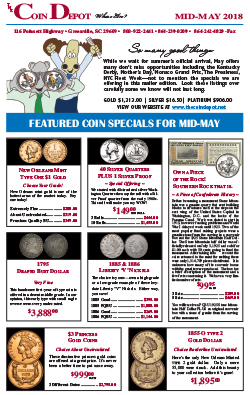 Rare Coin Express - Mid-May 2018
