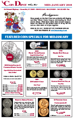 Rare Coin Express - Mid-January 2018