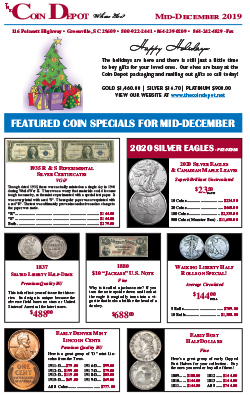Rare Coin Express - Mid-December 2019