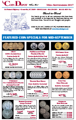 Rare Coin Express - Mid-September 2017