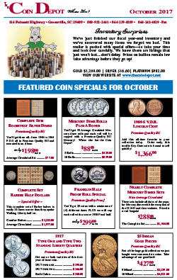 Rare Coin Express - October 2017