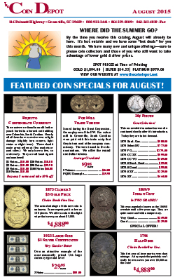 Rare Coin Express - August 2015