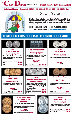 Rare Coin Express - Mid-September 2018