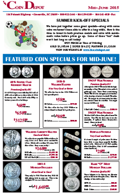 Rare Coin Express - Mid-June 2015