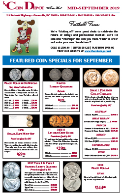 Rare Coin Express - Mid-September 2019