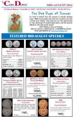 Rare Coin Express - Mid-August 2014