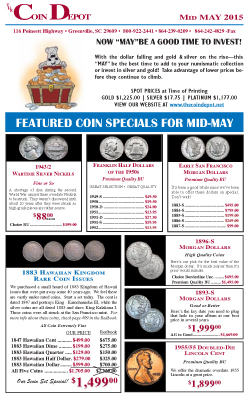 Rare Coin Express - Mid-May 2015