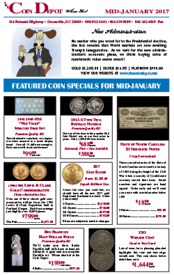 Rare Coin Express - Mid-January 2017
