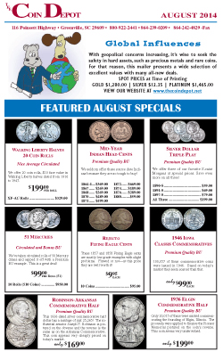Rare Coin Express - August 2014