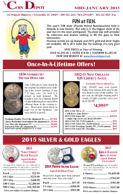 Rare Coin Express - Mid-January 2015