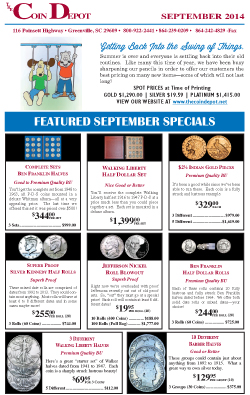 Rare Coin Express - September 2014