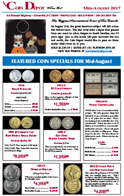 Rare Coin Express - Mid-August 2017