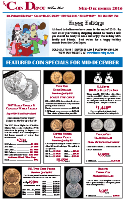 Rare Coin Express - Mid-December 2016