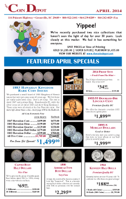 Rare Coin Express - April 2014