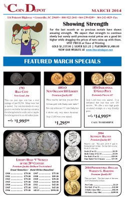 Rare Coin Express - March 2014