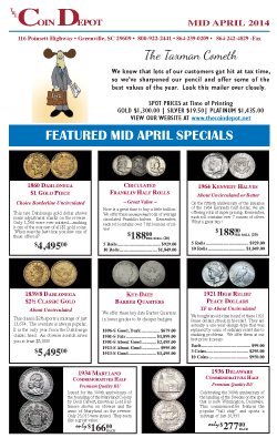 Rare Coin Express - Mid-April 2014
