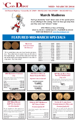 Rare Coin Express - Mid-March 2014