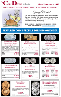 Rare Coin Express - Mid-November 2019