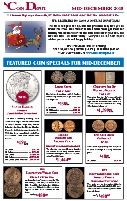 Rare Coin Express - Mid-December 2015