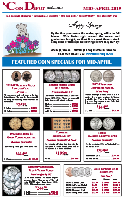 Rare Coin Express - Mid-April 2019