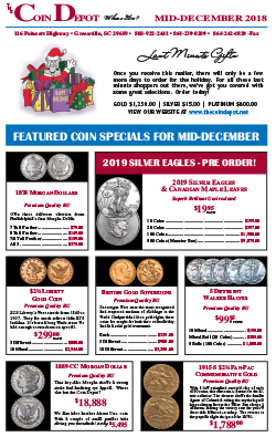 Rare Coin Express - Mid-December 2018