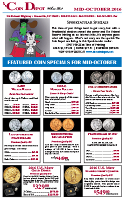 Rare Coin Express - Mid-October 2016