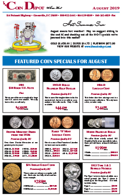 Rare Coin Express - August 2019