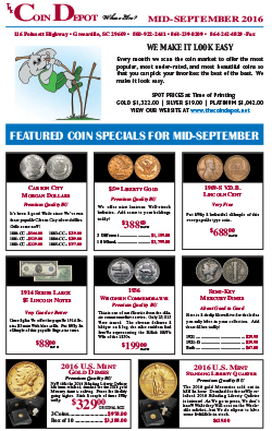 Rare Coin Express - Mid-September 2016