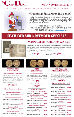 Rare Coin Express - Mid-November 2014