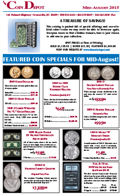 Rare Coin Express - Mid-August 2015